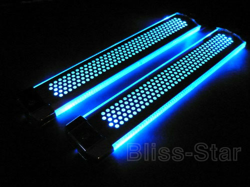 blue led decoration bar interior light car kit f1 ebay. Black Bedroom Furniture Sets. Home Design Ideas